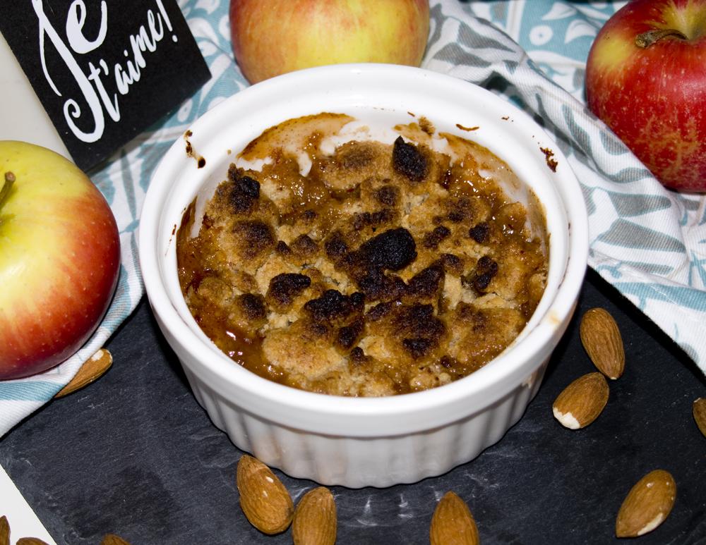 Apfel-Mandel-Crumble